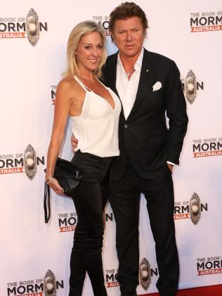 Richard Wilkins and partner Virginia Burmeister. Picture: MEGA