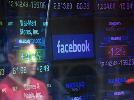 Facebook shares dropped following reports of a large data breach. Picture: AFP