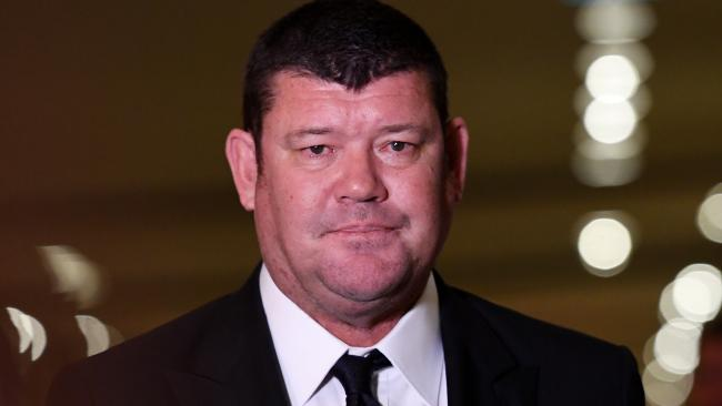 James Packer leaves the Crown Resorts AGM at the Crown Casino in Melbourne, on Thursday 26 October 2017. Picture: Tracey Nearmy/AAP