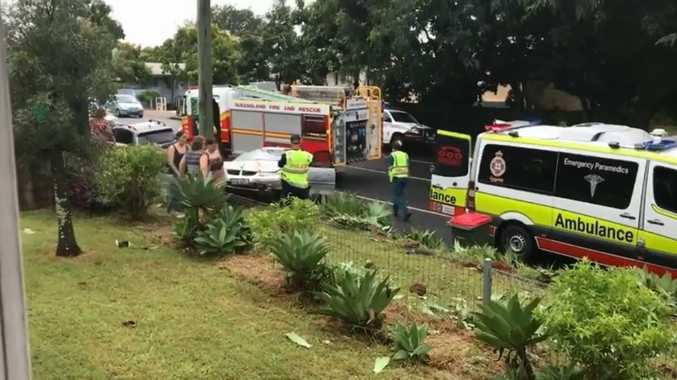 The car rolled three times before landing on a nature strip on Carter Rd, Nambour.