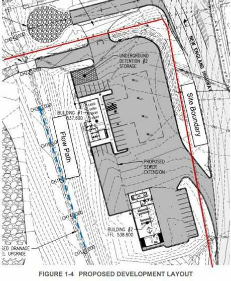 Plans for the proposed service station at Crows Nest.