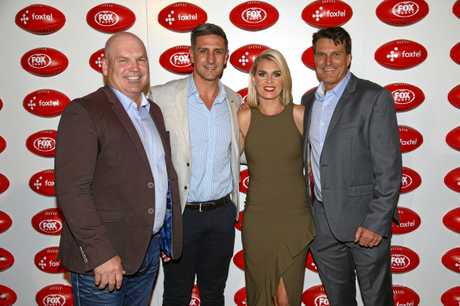 Paul Roos (far right) with fellow Fox Footy stars Jason Dunstall, Matthew Pavlich and Sarah Jones.