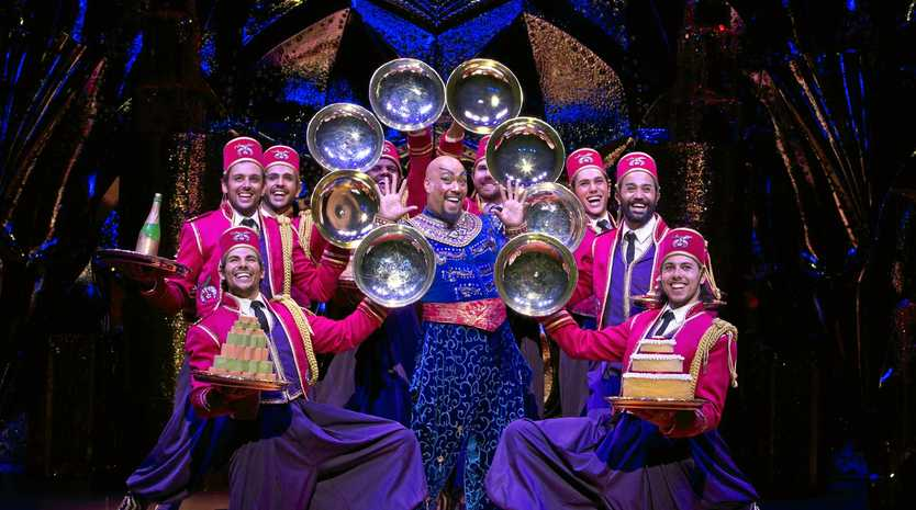ALWAYS A HIT: Gareth Jacobs as the Genie in Aladdin the Musical.