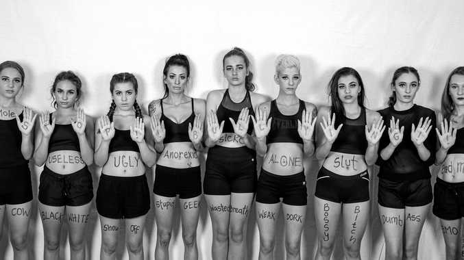 Models spell out powerful message