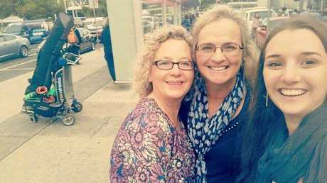 CATCHING UP: Making the most of their time together in Melbourne are (from left) Wendy Jeub, Jeni Bonell and Sabrina Bonell.