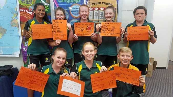 NO WAY: Students from Year 8 created 'No Way' bullying posters to show bullying has no place at Emerald State High school.