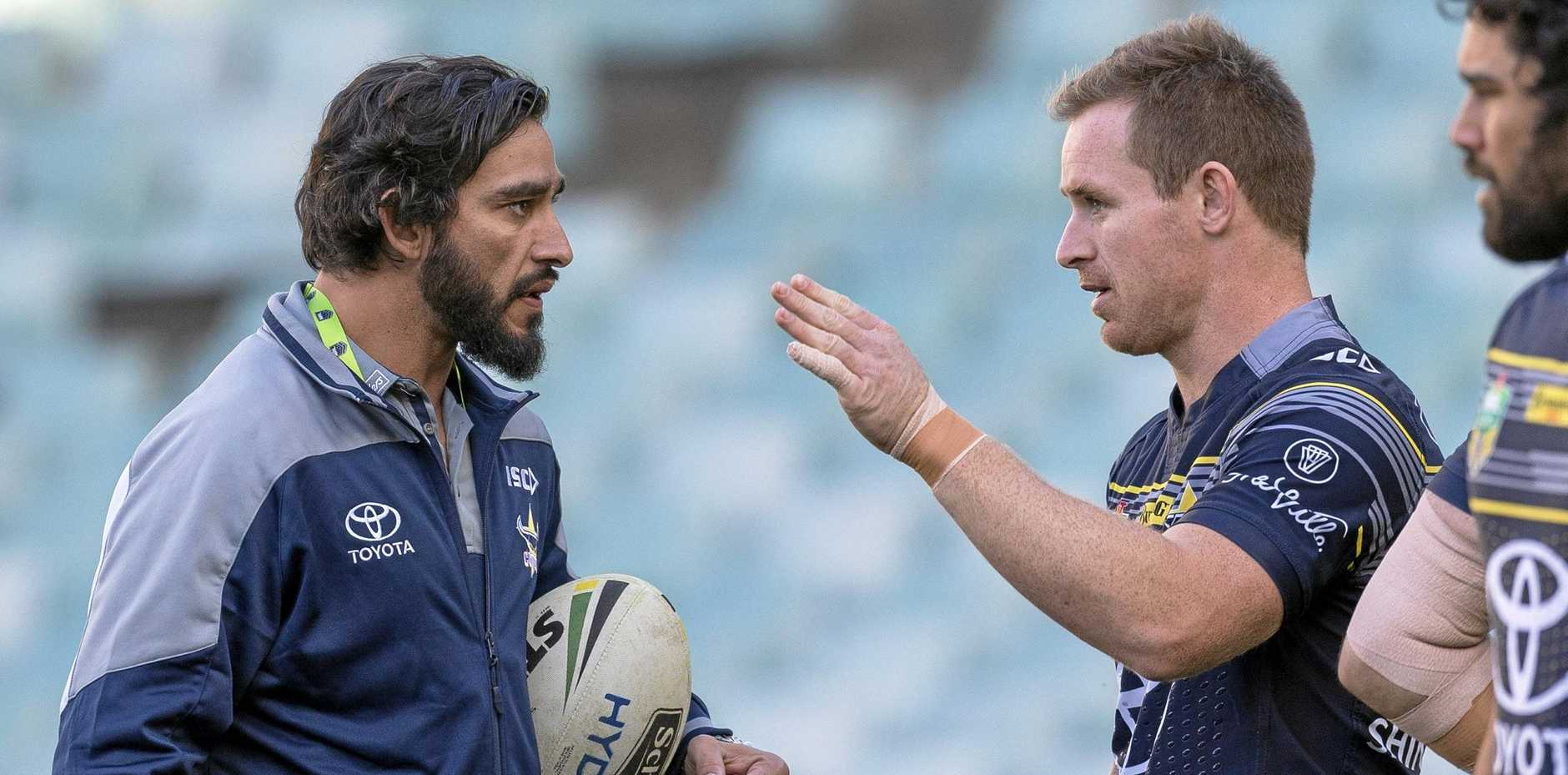 Johnathan Thurston and Michael Morgan will line up in the halves for the Cowboys.