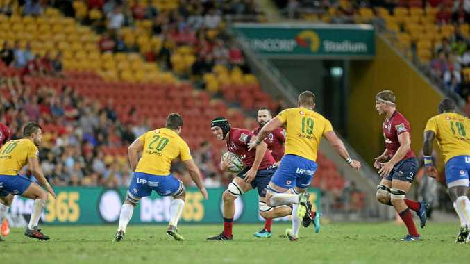 MOVING UP: Hockings in action for the Queensland Reds when they faced off against the Bulls at Suncorp Stadium.
