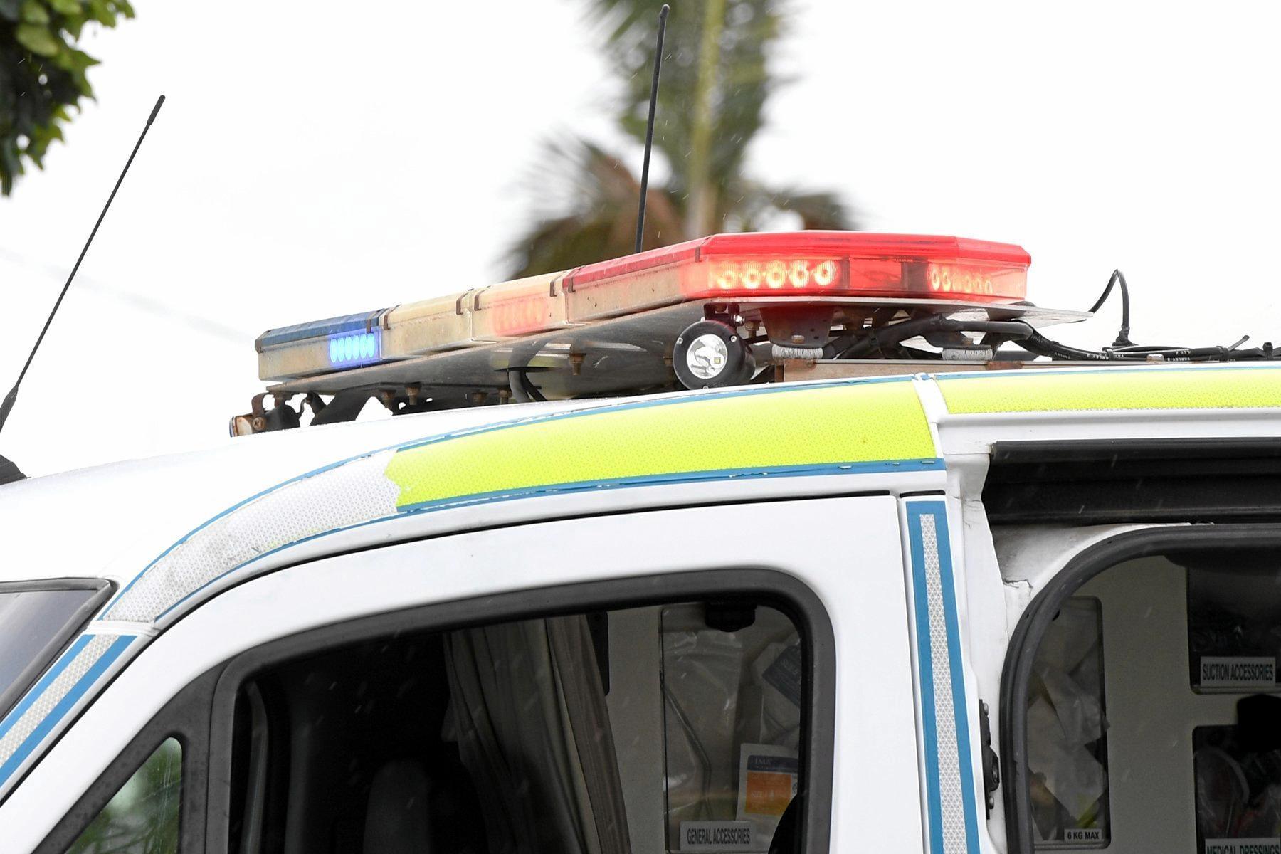 FALL: A man fell eight metres down a cliff last night.