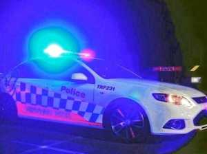 Male runs from scene after crashing ute on bridge