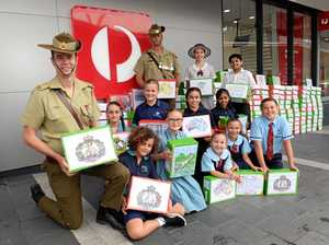 Kids' letters lift troop morale while overseas
