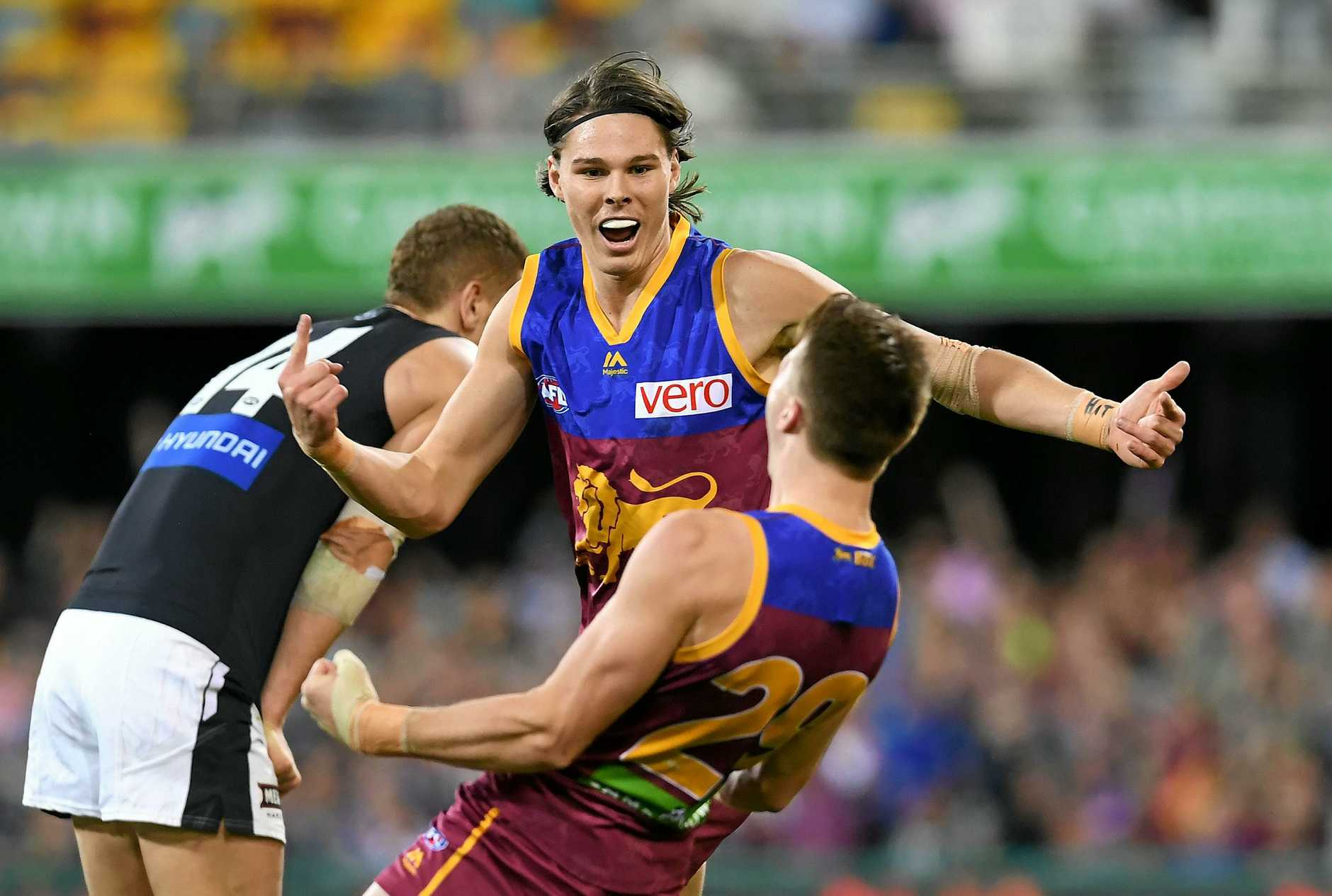 LIVELY: Eric Hipwood during the round 18 AFL game between the Brisbane Lions and the Carlton Blues in Brisbane last season.