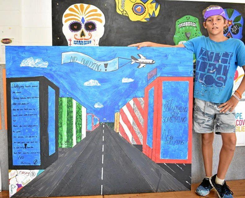 FIRST PLACE: Daniel Neale with  Cityscape featuring No Bullying Street .