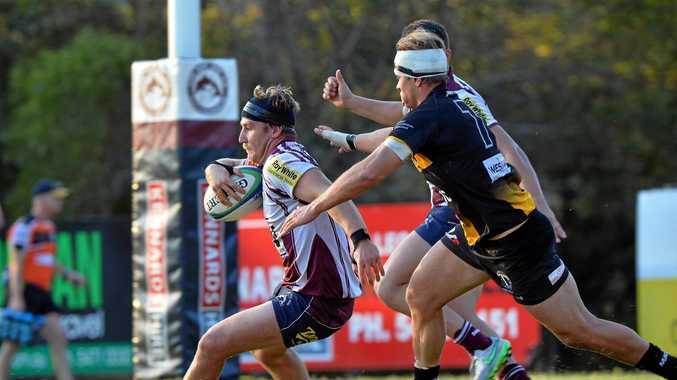 RUGBY UNION: The combined Sunshine Coast Rugby Union/Queensland Suburban Rugby Union competition will kick off on April 7. Pictured is Noosa's Nick Colvin in a match last year.