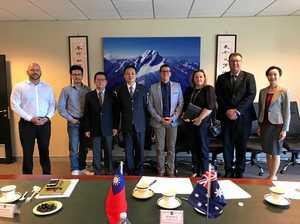 Mayor, leaders touchdown in Taiwan for meetings