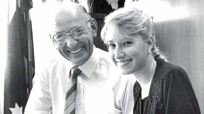 Ray Braithwaite, pictured here with Susie Lockie in 1991, was the longest serving Member for Dawson.