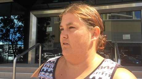Katrina McKenzie talks outside the Maroochydore Courthouse about the crash that changed her family's lives.