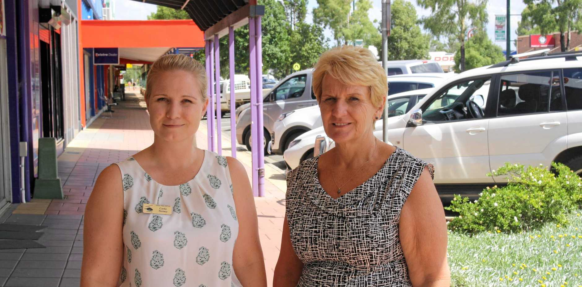 Oakey business owners Carla Tierney (left) and her mother Tracey Tierney were shocked at the decision to decline New Acland Mine an environmental authority.