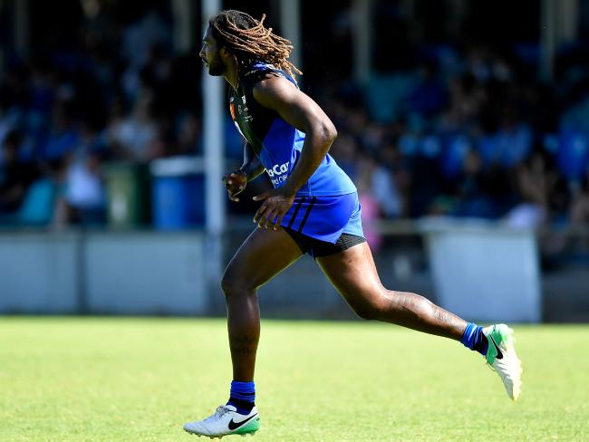 Nic Naitanui played in a WAFL pre-season match between East Fremantle and East Perth two weeks ago. (Photo by Stefan Gosatti/Getty Images)