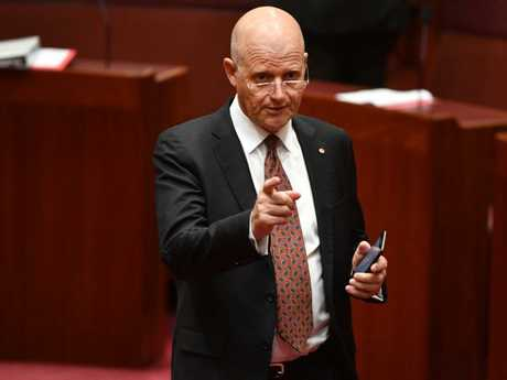 "Independent senator David Leyonhjelm has slammed the ""moral outrage"" over the Cambridge Analytica scandal. Picture: AAP"