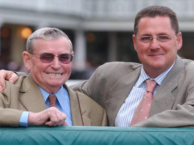 Sydney training dynasty: Graeme Begg (right) with his father, former trainer Neville Begg back in 2004.