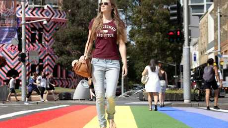 Sydney had a rainbow crossing for a brief period in 2013.