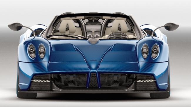 The Pagani Huayra Roadster sprints from 0-100km/h in just 3.0 secs.