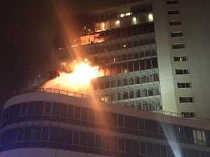 Blaze rips through upper floors of hotel