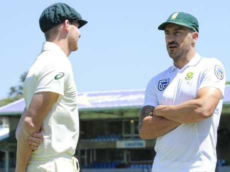 Faf wasn't too happy with the Aussie skip's response to the Rabada appeal.