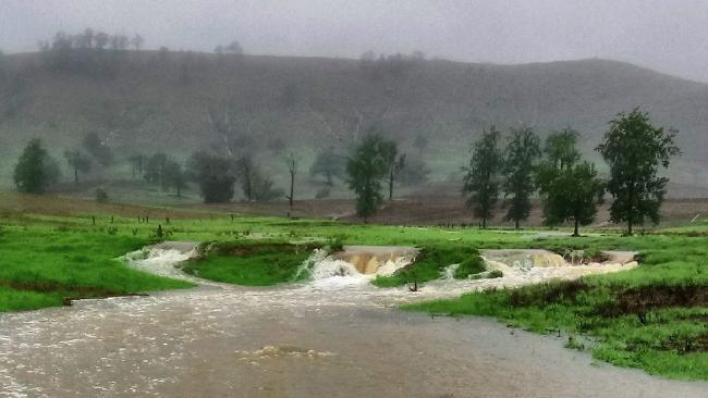 More than 60mm fell in one hour in Dungog. Picture: David Threlfo / Twitter @David_Threlfo