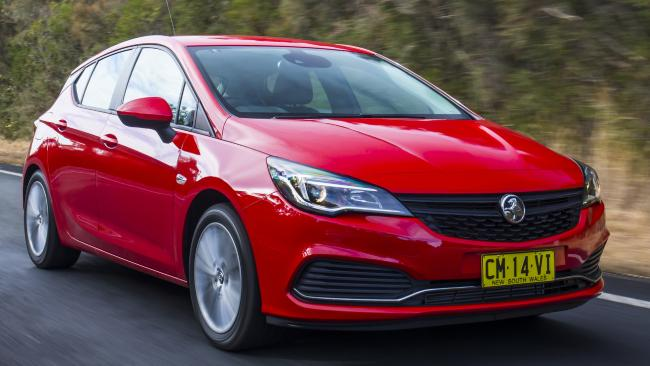 The Holden Astra is going for a song, if you want a 2017-plate car. Picture: Mark Bean.