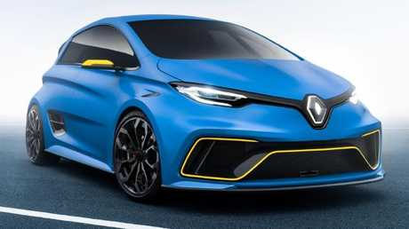 Renault's Zoe-e-sport concept hot hatch. Pic: Supplied.