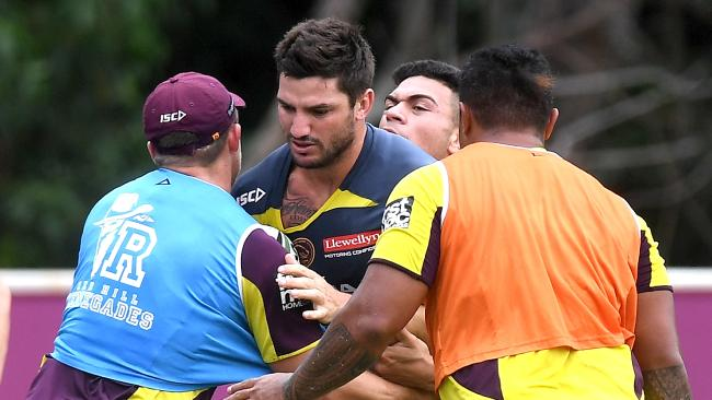Matt Gillett at Broncos training.