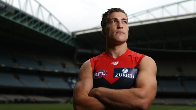Melbourne captain Jack Viney will be watching from the sidelines for a significant period. (Photo by Robert Cianflone/Getty Images)