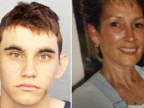 Nikolas Cruz, left, and his mother, Lynda Cruz. Picture: Supplied