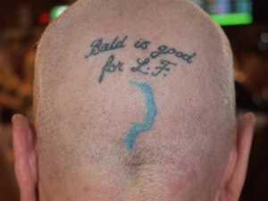 Jo Jones reveals the tattoo on the back of her head