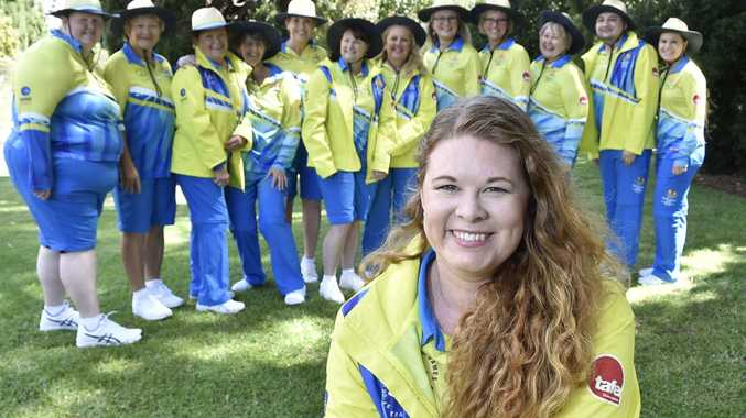 THRILLED: Excited and ready for the Gold Coast 2018 Commonwealth Games are (front) Tegan DeClark and Darling Downs volunteers (back, from left) Marilyn Rollings, Marlene Smith, Tracey Gardner, Helen Boydpratt, Debbie Waller, Susan Garmeister, Kym Murphy, Janine Ritter, Neville Hess and Taryn Johns.