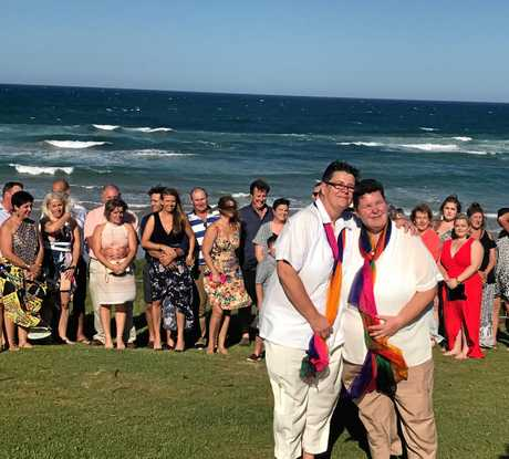Joanne and Jackie tie the knot at Sawtell.