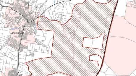 EARMARKED: The Beerwah East priority development area.