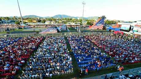 A big crowd at Nitro Circus Live at Browne Park, Rockhampton. Photo Sharyn O'Neill / The Morning Bulletin
