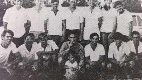 The 1968 Woombye football team.