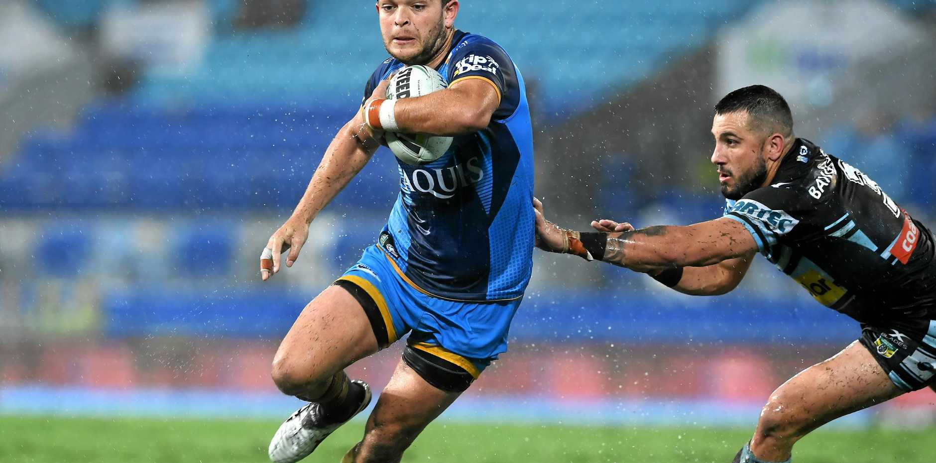 STAR: Titans player Ashley Taylor is looking to steer his team to a win over the Dragons on Sunday.