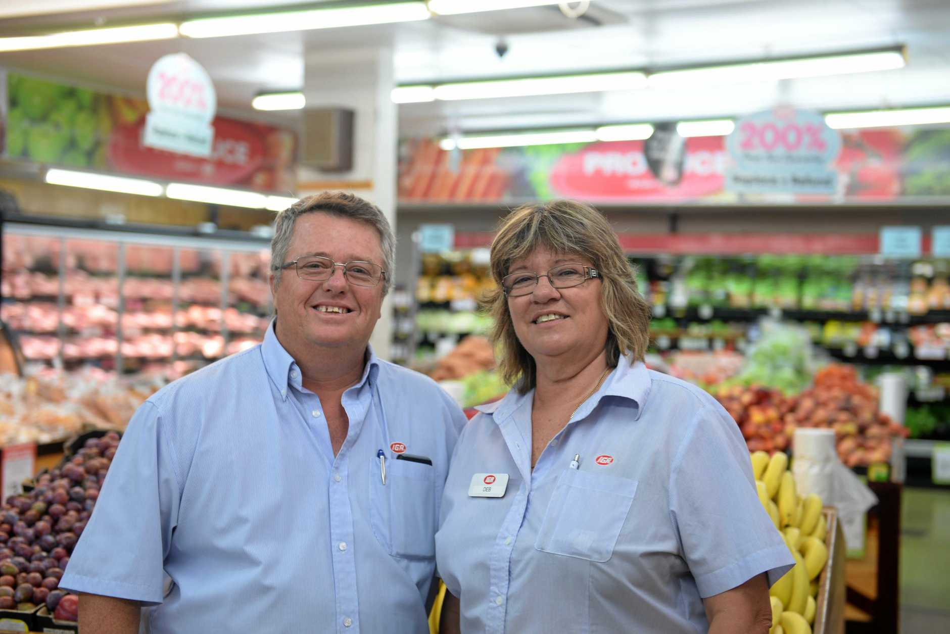 A HUB OF ACTIVITY: Bruce and Deb Mahoney, from the Childers IGA, love the vibrant community in Childers.