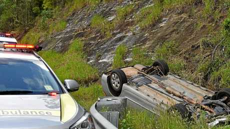 A man was the sole occupant in a single vehicle rollover crash on the Bruce Highway.