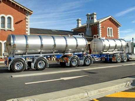 LEFT: A 55-tonne B-double truck spotted travelling along Kyogle Rd.
