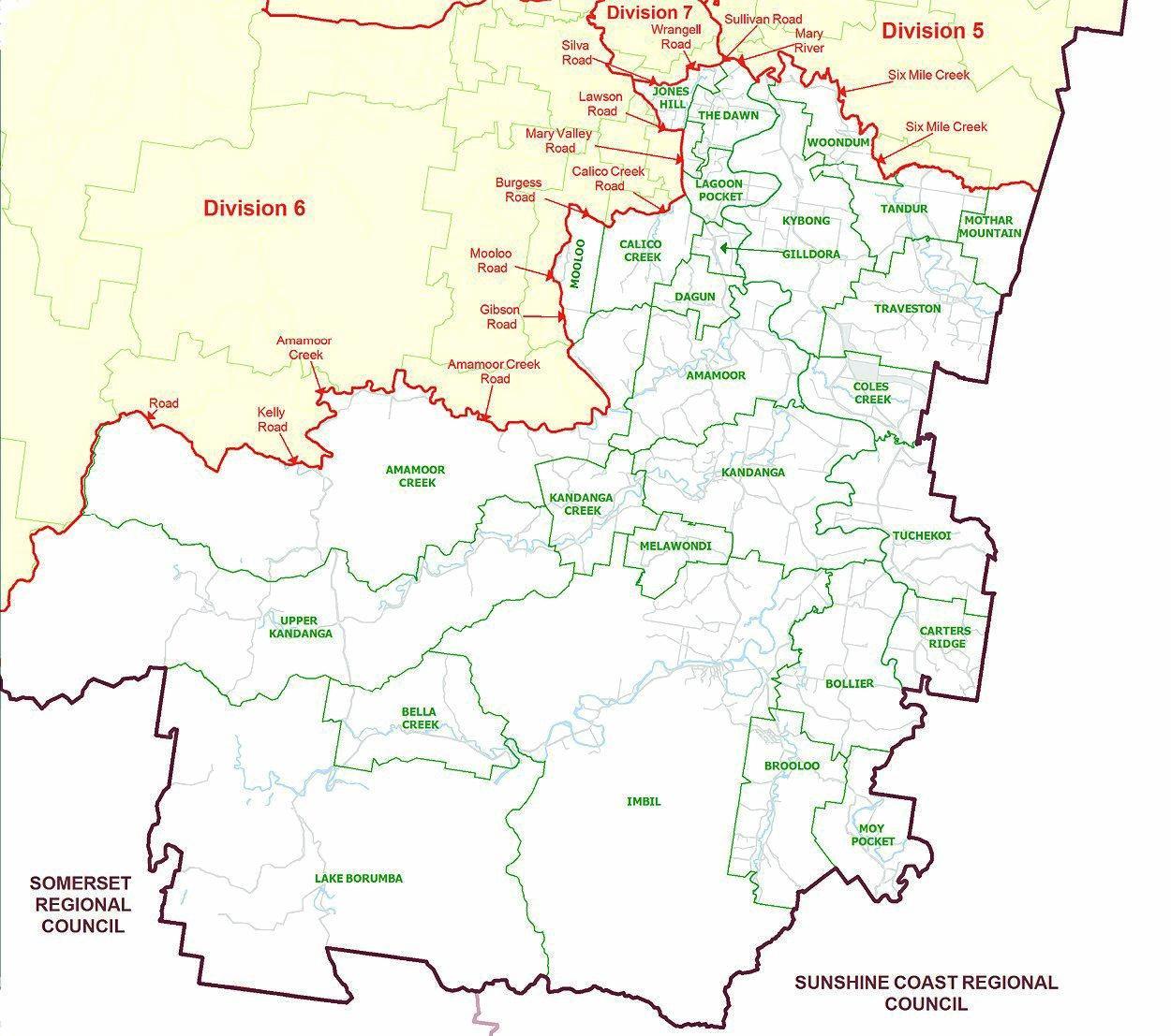 Gympie Regional Council Division 8.