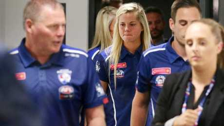 Western Bulldogs skipper Katie Brennan will miss the AFLW Grand Final. Picture: Andrew Tauber