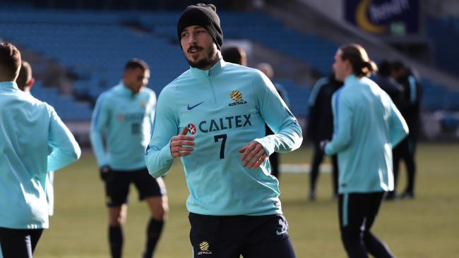 Mathew Leckie at Socceroos training