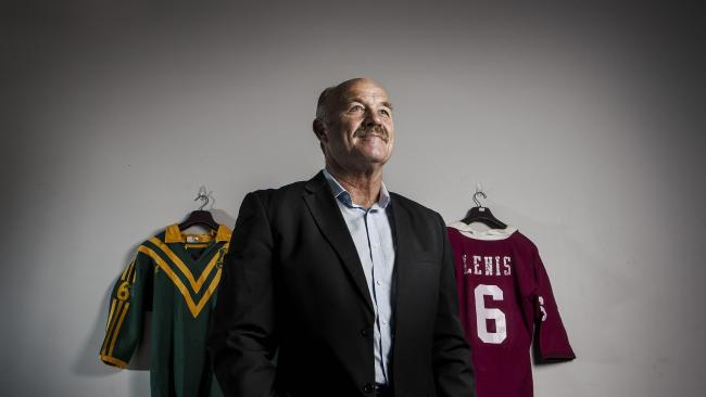 "Wally Lewis said ""true"" when asked if an attempt was made to recruit him to be a Nationals Party member. Picture: Mark Cranitch"