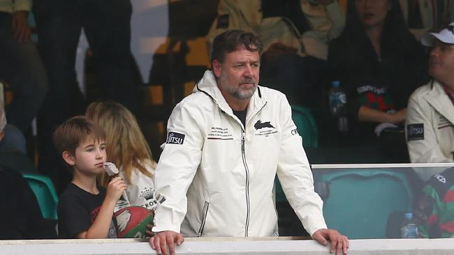 Rabbitohs owner Russell Crowe commissioned the book which has infuriated the Sea Eagles.